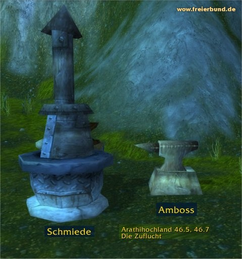 Schmiede (Forge) Ort / POI WoW World of Warcraft  1