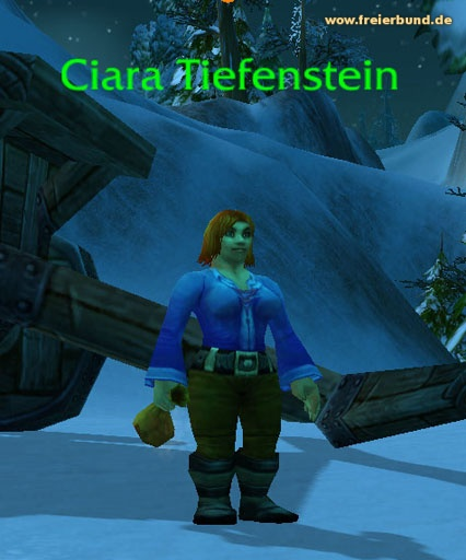 Ciara Tiefenstein (Ciara Deepstone) Quest NSC WoW World of Warcraft  1