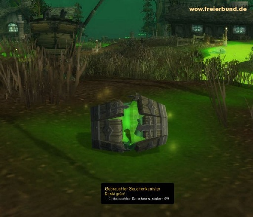 Gebrauchter Seuchenkanister (Used Blight Canister) Quest-Gegenstand WoW World of Warcraft  1