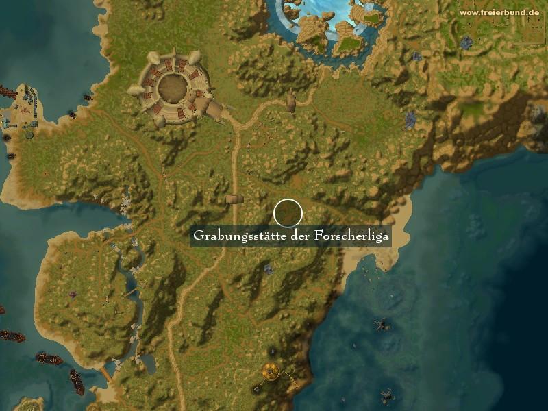 grabungsst tte der forscherliga landmark map guide freier bund world of warcraft. Black Bedroom Furniture Sets. Home Design Ideas