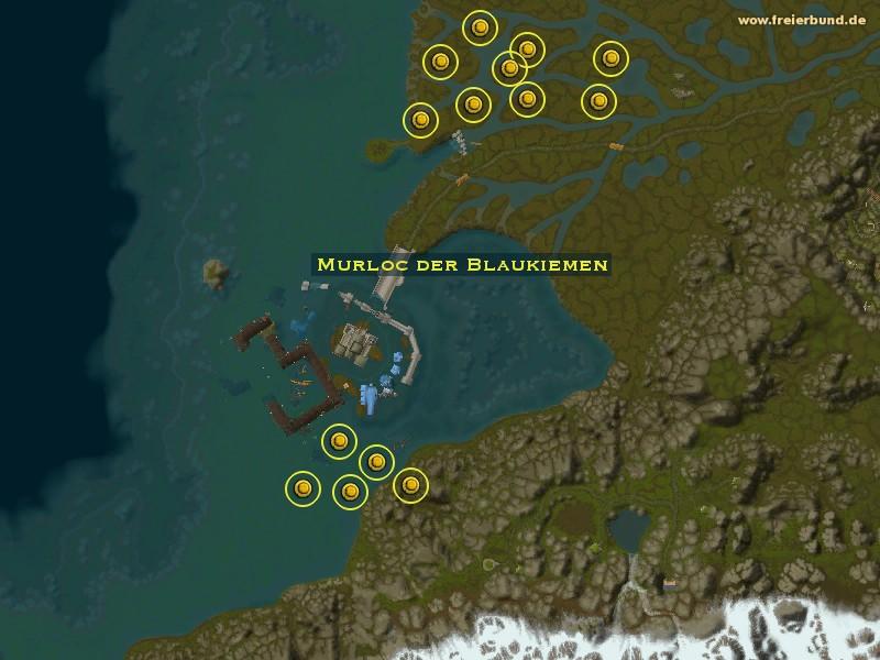 murloc der blaukiemen monster map guide freier bund world of warcraft. Black Bedroom Furniture Sets. Home Design Ideas