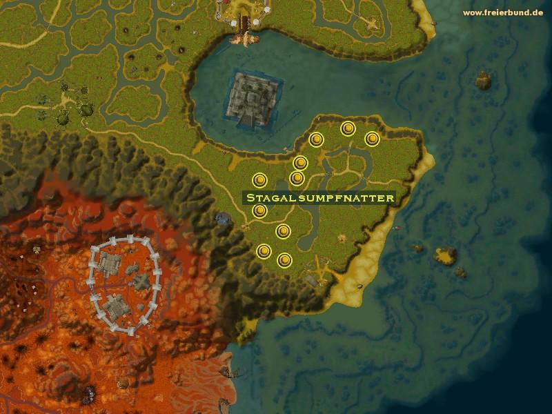 Stagalsumpfnatter monster map amp guide freier bund world of