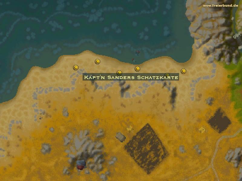 Käpt\'n Sanders Schatzkarte - Quest-Gegenstand - Map & Guide ...