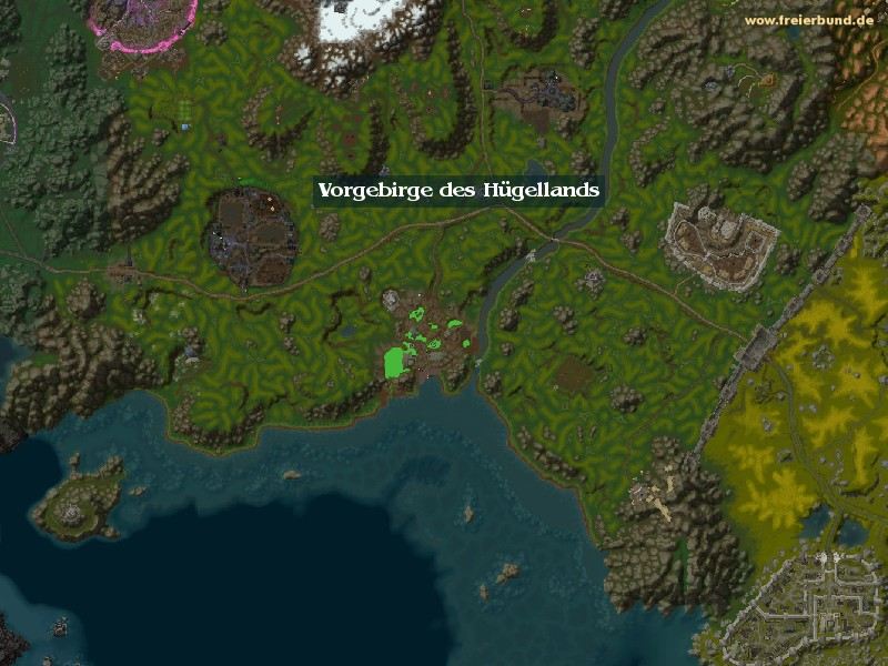 Vorgebirge des Hügellands (Hillsbrad Foothills) Zone WoW World of Warcraft