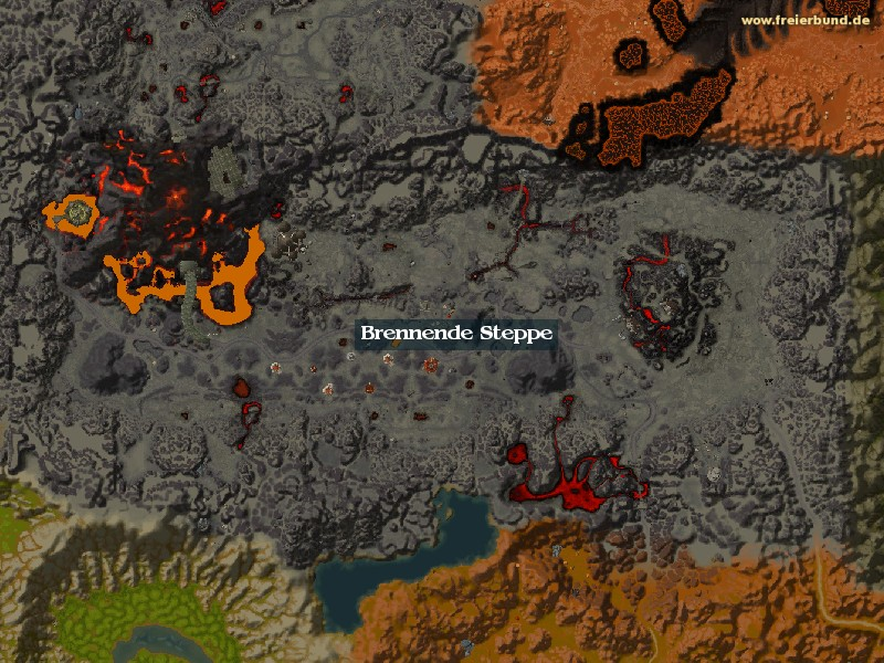 Brennende Steppe (Burning Steppes) Zone WoW World of Warcraft