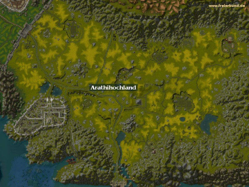 Arathihochland (Arathi Highlands) Zone WoW World of Warcraft