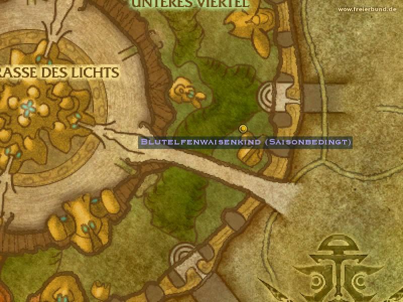 Blutelfenwaisenkind Saisonbedingt Quest Nsc Map Guide