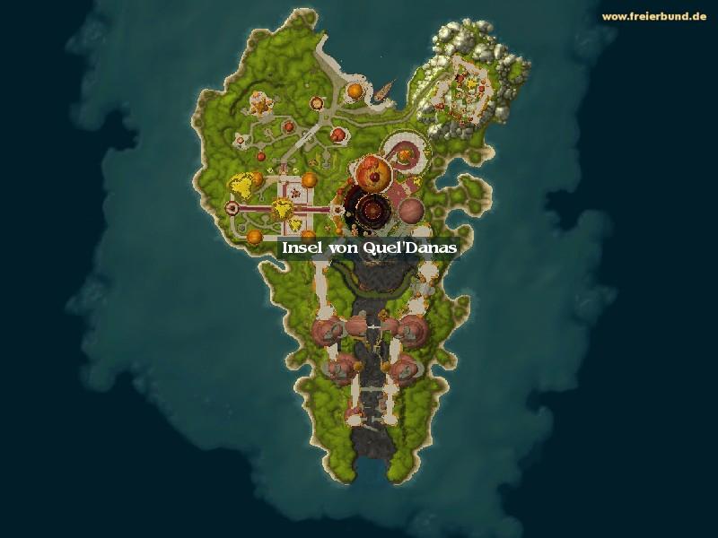 Insel Von Quel Danas Zone Map Guide Freier Bund World Of