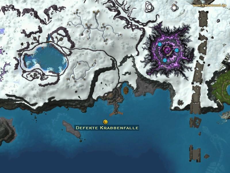 Defekte Krabbenfalle Quest Gegenstand Map Guide Freier Bund