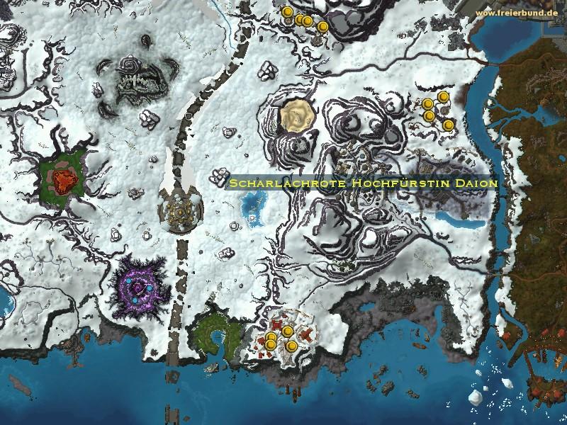 Scharlachrote Hochfürstin Daion - Monster - Map & Guide.