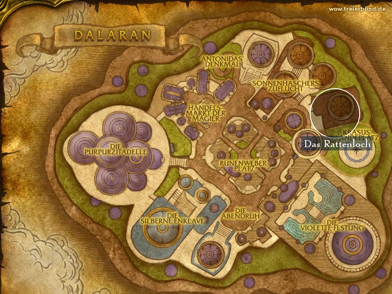 Das Rattenloch (The Filthy Animal) Landmark WoW World of Warcraft