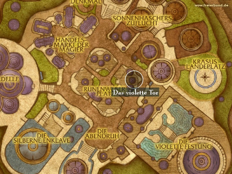 Das violette Tor (The Violet Gate) Landmark WoW World of Warcraft