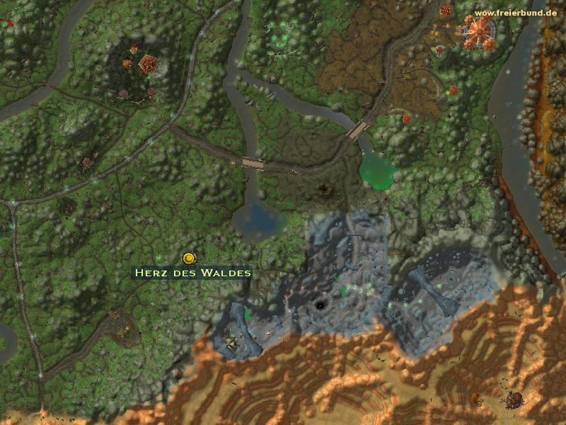 herz des waldes quest gegenstand map guide freier bund world of warcraft. Black Bedroom Furniture Sets. Home Design Ideas