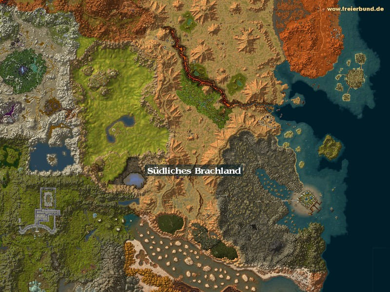 Südliches Brachland (Southern Barrens) Zone WoW World of Warcraft