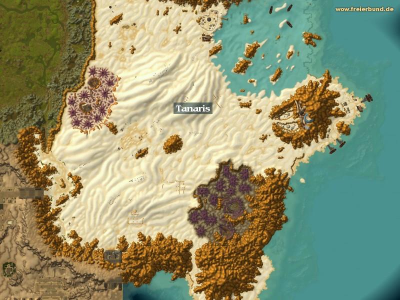 tanaris zone map guide freier bund world of warcraft. Black Bedroom Furniture Sets. Home Design Ideas