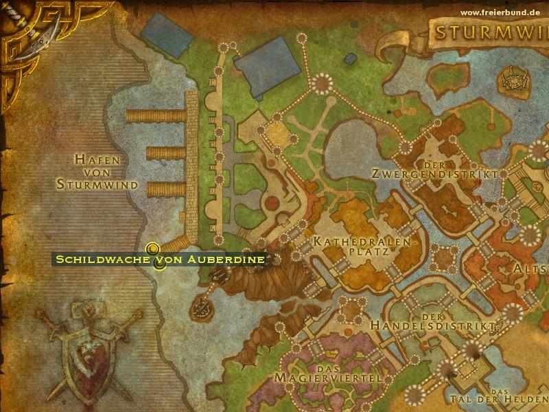 Schildwache von Auberdine - Monster - Map & Guide - Freier Bund ...