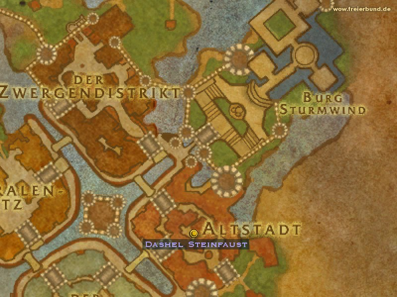 Dashel Steinfaust (Dashel Stonefist) Quest NSC WoW World of Warcraft