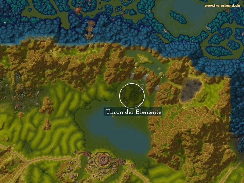 thron der elemente landmark map guide freier bund world of warcraft. Black Bedroom Furniture Sets. Home Design Ideas